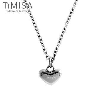 【TiMISA】鈦真心 純鈦項鍊(E)