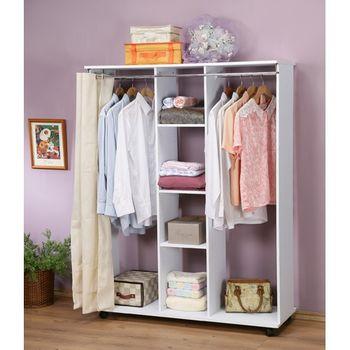 C&B典雅移動式防塵四尺衣櫥