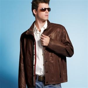 IKON型男經典品味小羊皮外套