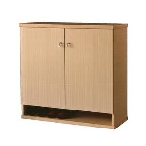 【優利亞-簡約白橡】3尺對開鞋櫃(全木心板)