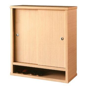 【優利亞-簡約白橡】3尺推門鞋櫃(全木心板)