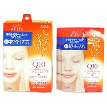 KOSE(開架)Q10酵素緊緻活膚嫩白面膜(盒裝)
