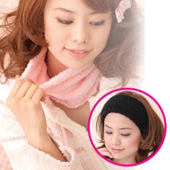 《日本Ageha小惡魔》發熱暖暖圍脖頭巾(黑色)