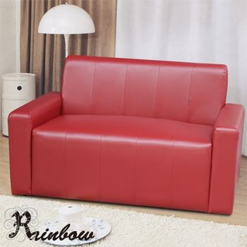 RB-簡約記事沙發二人座(紅)