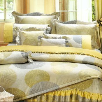 Joy bed【夢幻圓輪】雙人三件式精梳棉床包組