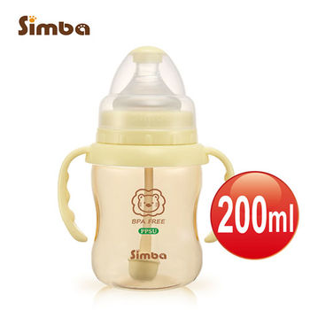 【小獅王辛巴】PPSU自動把手寬口葫蘆小奶瓶(200ml)