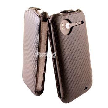 HTC Sensation 感動機 動感卡夢紋 下掀式 手機皮套