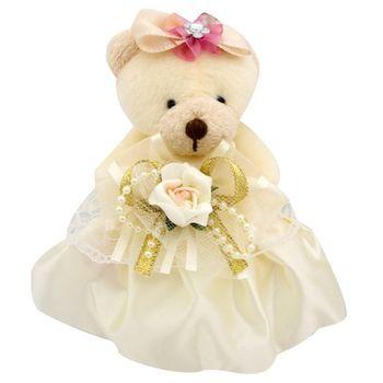 (婚禮小物)極品蓬裙熊歐式香包(黃色)