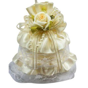 (婚禮小物)幸福天使裙擺香包(黃色)
