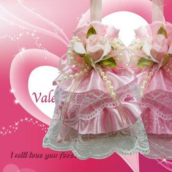 (婚禮小物)幸福天使裙擺香包(粉紅)