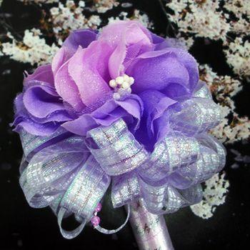 (婚禮小物)典雅櫻花精美簽名筆-淡紫色(一對)