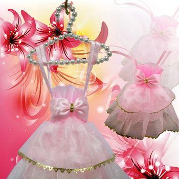 粉紅禮服蓬裙香包(中)