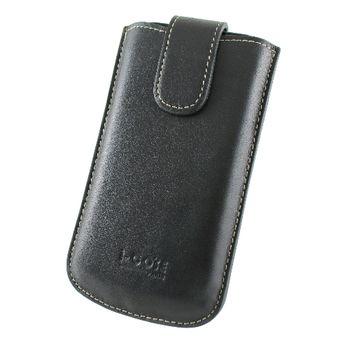 i-COSE 義大利Nappa 頭層皮套 Sharp SH8188U 黑爵