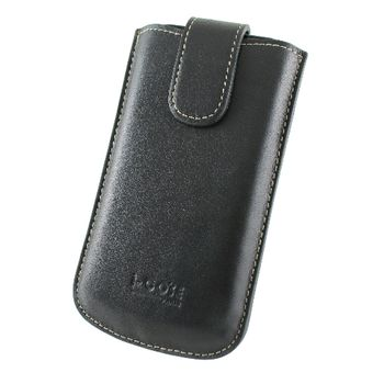 i-COSE 義大利Nappa 頭層皮套Optimus Black P970