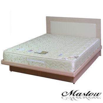 【Maslow-時尚白橡馬鞍皮】雙人掀床組-5尺(不含床墊)