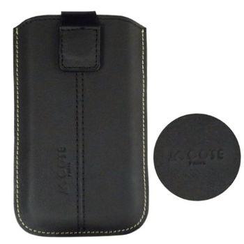COSE HTC Touch Diamond 真皮(小牛皮)抽拉式手機套磁吸