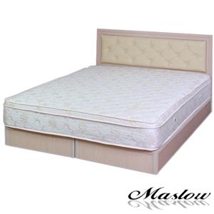 【Maslow-簡約白橡釘釦】單人床組-3.5尺(不含床墊)