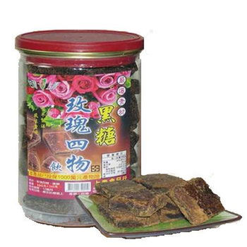 《台灣上青》養生玫瑰四物飲 黑糖塊500g-加網