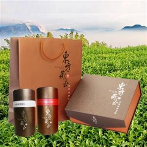 東方藏玉 茶葉禮盒(杉林溪雲霧茶+阿里山紅烏龍)