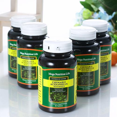 營養生活乳酸菌.比菲德氏菌口嚼片5瓶