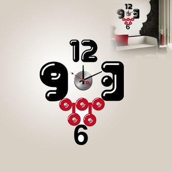 【日本Wall-Deco】創意壁貼時鐘 瘋搖滾