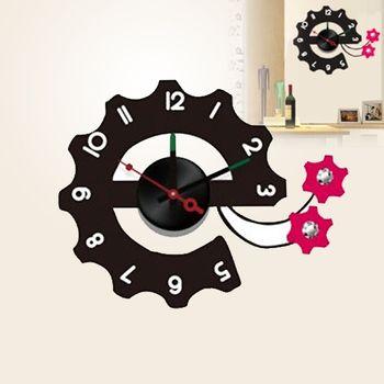 【日本Wall-Deco】創意壁貼時鐘 運轉時間