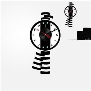【日本Wall-Deco】創意壁貼時鐘 搖擺時刻