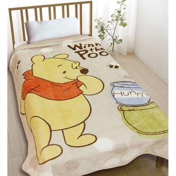 迪士尼-小熊維尼金紡絨毯