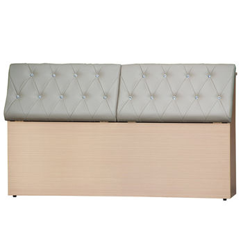 【MiCasa-星空白橡木心板】雙人5尺床頭箱