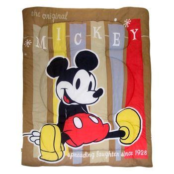 《集購優惠》迪士尼春秋毯被-米奇棕