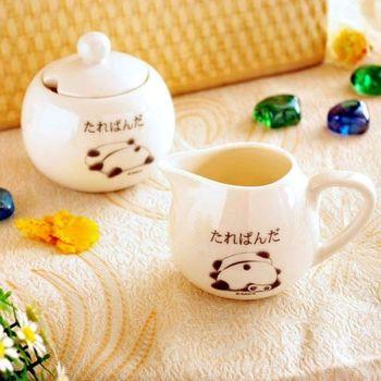 【日本San-X授權】趴趴熊午茶組合(糖罐+牛奶壺)