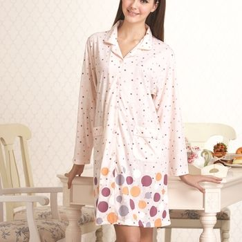 【皮爾卡登】繽紛圓點長袖棉質睡衣