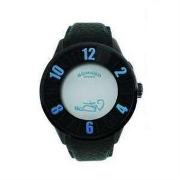 ROMAGO Numeration真皮皮帶腕錶(黑)