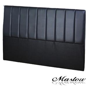 【Maslow-簡約線條皮製】單人床頭-3.5尺(黑)