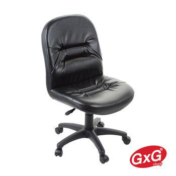 【吉加吉】短背舒適精典皮椅 TW-1004 黑色 無扶手 電腦/辦公椅 透氣PU皮