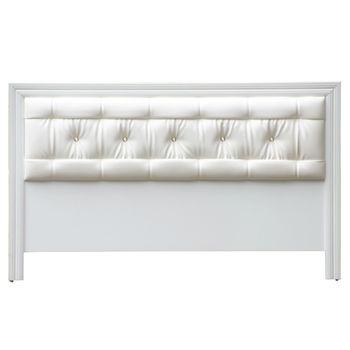 【MiCasa-華麗水鑽純白】雙人5尺床頭片
