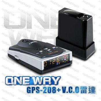 (送免費安裝)ONE WAY GPS208 GPS測速器+V.C.O全頻雷達