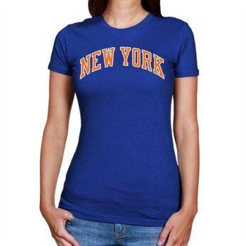 NBA林書豪紐約尼克斯隊女T恤 - 皇家藍