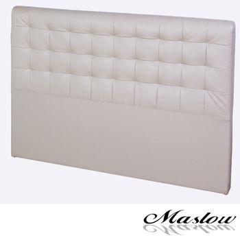 【Maslow-時尚格紋皮製】加大床頭片-6尺(卡其)