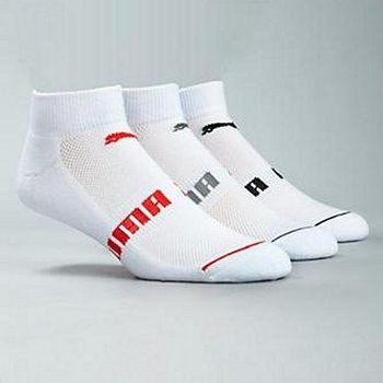 Puma 彪馬腳踝白色3入運動襪