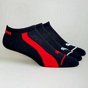 Puma 彪馬踝繡美洲豹低切黑色3入運動襪