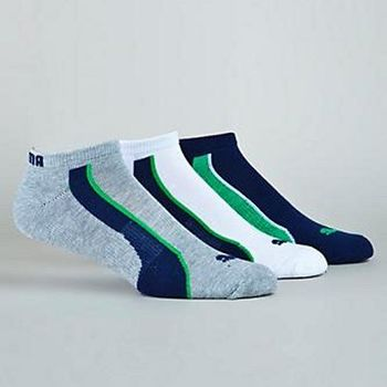 Puma 彪馬踝繡美洲豹低切時尚混搭3入運動襪