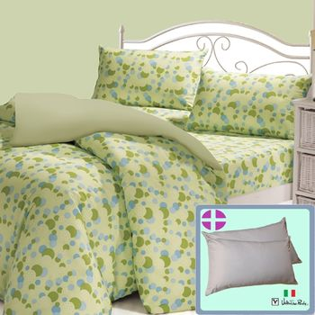 Valentino Rudy時尚風情4件床包被套+2枕超值組-雙人