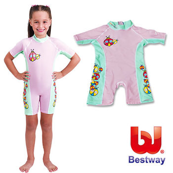 美國品牌【Bestway】兒童抗UV連身泳衣-女