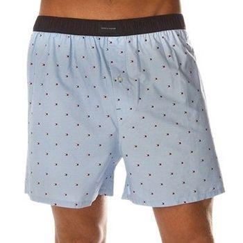 Tommy Hilfige 2012男微型LOGO印花淡藍平口內褲