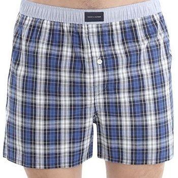 Tommy Hilfige 2012男時尚藍格子平口內褲