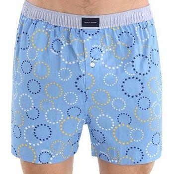 Tommy Hilfige 2012男時尚水藍圈圈平口內褲