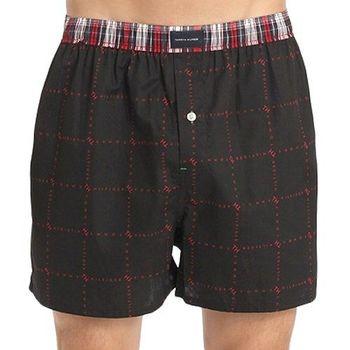 Tommy Hilfige 2012男時尚對比格子腰帶平口內褲