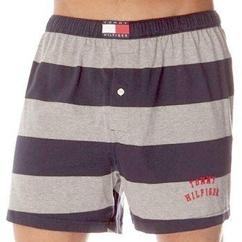 Tommy Hilfige 2012男橄欖球條紋黑灰平口內褲