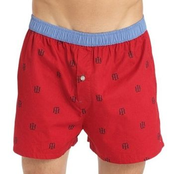 Tommy Hilfige 2012男對比腰帶Logo紅色平口內褲